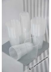 100 verres plastique transparent 20/23cl