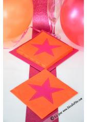 20 Serviettes STAR orange