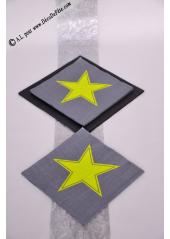 20 Serviettes STAR jaune