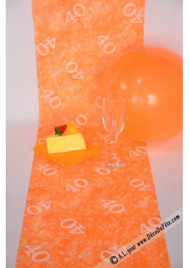 D codef - Chemin de table orange ...