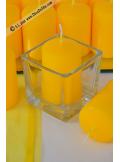 1 Bougie cylindre 6cm jaune