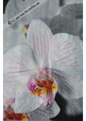 20 Serviettes fleurs d'orchidée