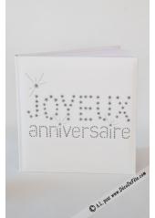 1 livre d'or JOYEUX ANNIVERSAIRE blanc