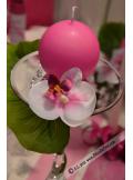 8 Orchidées LING fushia