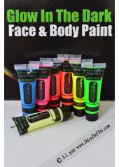 1 tube body paint phosphorescent jaune