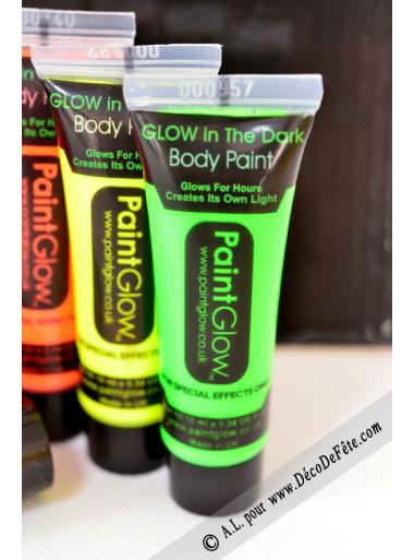 1 tube body paint phosphorescent vert