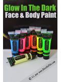 1 tube body paint phosphorescent bleu