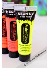 1 tube face paint fluo jaune