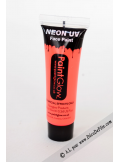 1 tube face paint fluo rouge