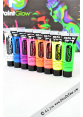 1 tube face paint fluo blanc