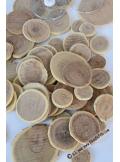 200Gr rondelles de bois 2-4cm