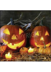 20 Serviettes Citrouille Halloween