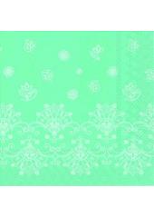 20 Serviettes Volutes Turquoise
