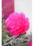 1 boule de plumes fushia 10cm