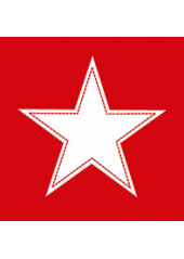 20 Serviettes STAR rouge