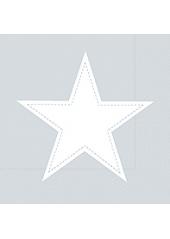 20 Serviettes STAR argent