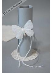 6 napperons dentelle papier blanc 11.5cm