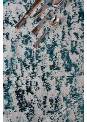 5M chemin de table feuilles d'or TURQUOISE