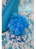 1 boule de plumes turquoise 10cm
