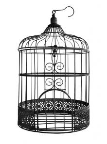 1 MINI cage à oiseaux metal NOIR