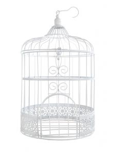 1 cage à oiseaux métal BLANC