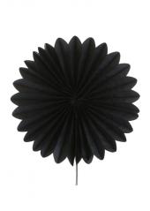 2 éventails de papier noir 20cm