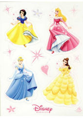 24 stickers Princesses