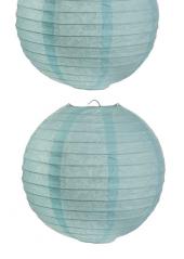 2 Lanternes BLEU CIEL 30 cm