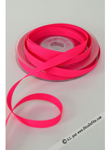 20m Ruban 10mm gros grain FUSHIA