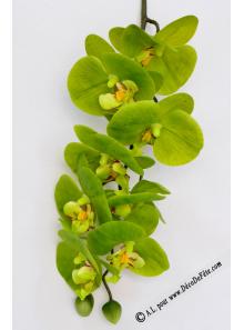 1 Branche d'orchidées CHENG verte