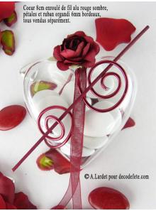 20 Coeurs transparents 6,5 cm