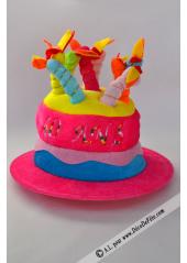 1 Chapeau bougies anniversaire 40 ans fushia