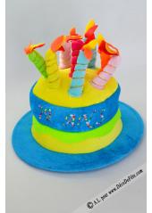 1 Chapeau bougies anniversaire 70 ans turquoise