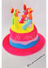 1 Chapeau bougies anniversaire 70 ans fushia