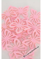 12 Stickers papillon rose