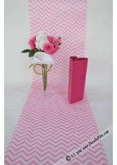 5M Chemin de table CHEVRON rose
