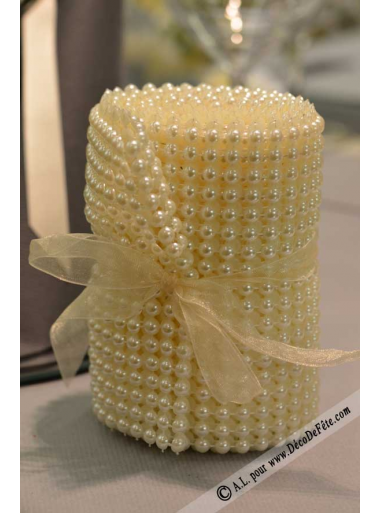 3M ruban de perles ivoire