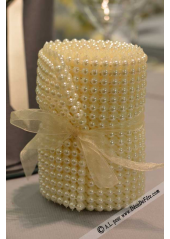 2.5M ruban de perles ivoire