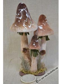 3 champignons des bois 29cm
