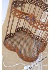 1 cage à oiseaux métal vieilli