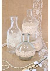 1 vase bouteille carrée 15cm