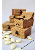 6 boites à secret caramel