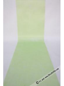 10M Chemin de table SUBLIM vert amande