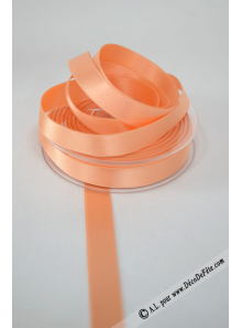 25m Ruban 15mm satin melon