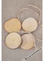 4 Rondins de bois nature