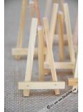 6 mini chevalets bois 8cm