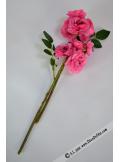 2 mini branche d'églantine fushia