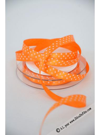 10m Ruban 9,5mm pois orange
