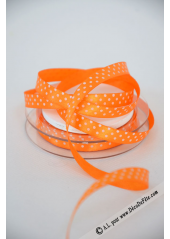 10m Ruban 9,5mm pois orange
