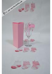 5M Chemin chaussons de Bébé rose